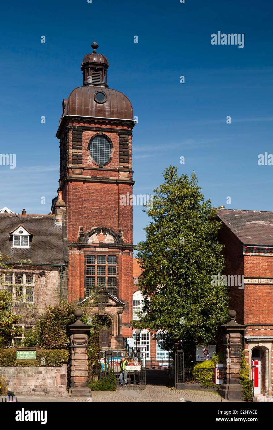 UK, England, Staffordshire, Leek, Stockwell Street, Nicholson Institute - Stock Image