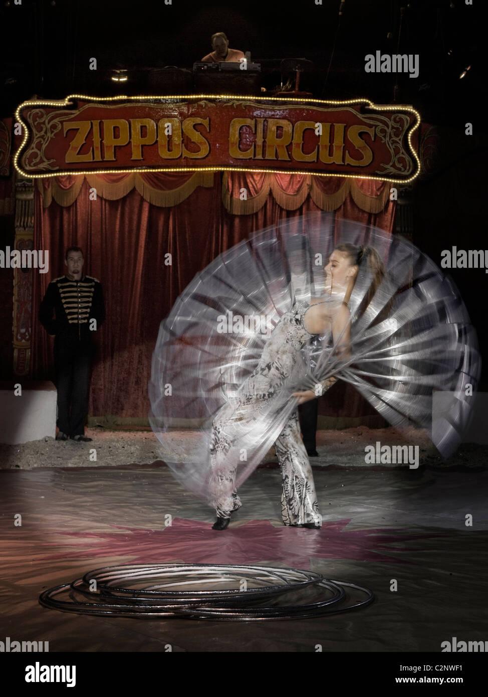 Zippo's Hoop Girl Stock Photo