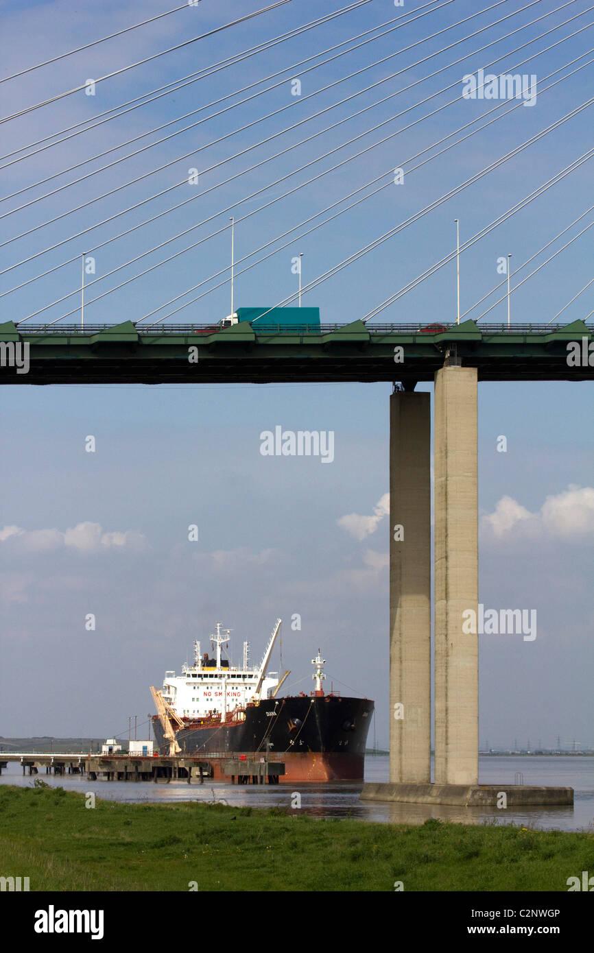 The Queen Elizabeth II Bridge dartford river thames M25 crossing london england uk gb - Stock Image