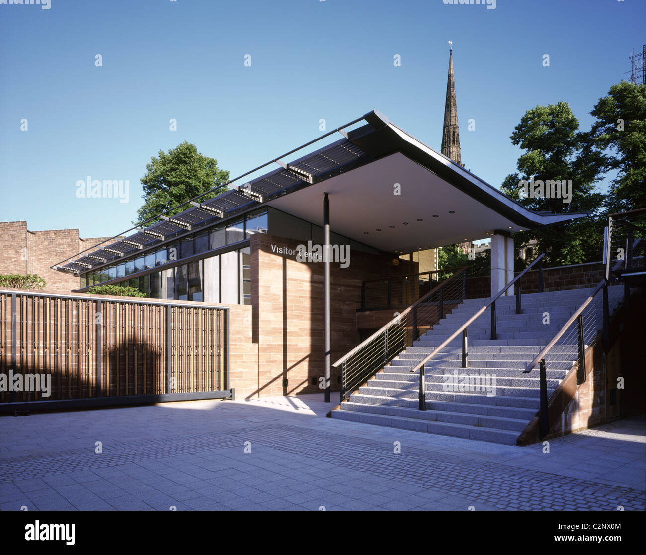 Visitor Interpretation Centre, Coventry. Front entrance to Visitor Centre day time. - Stock Image