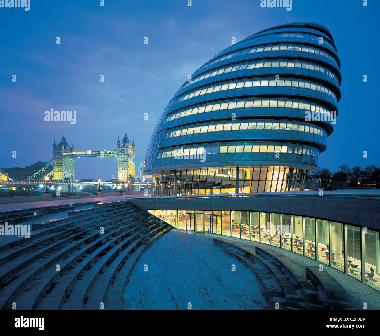 City Hall GLA, London. Daytime exterior 1999-2002 - Stock Image