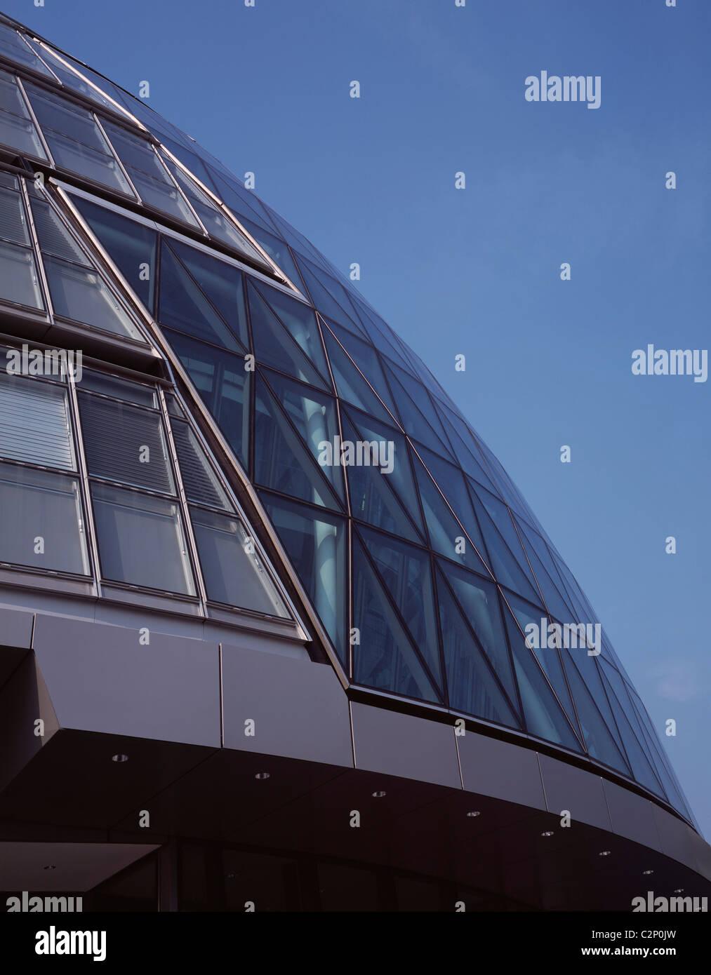 City Hall GLA, London. Exterior glazing detail. 1999-2002 - Stock Image
