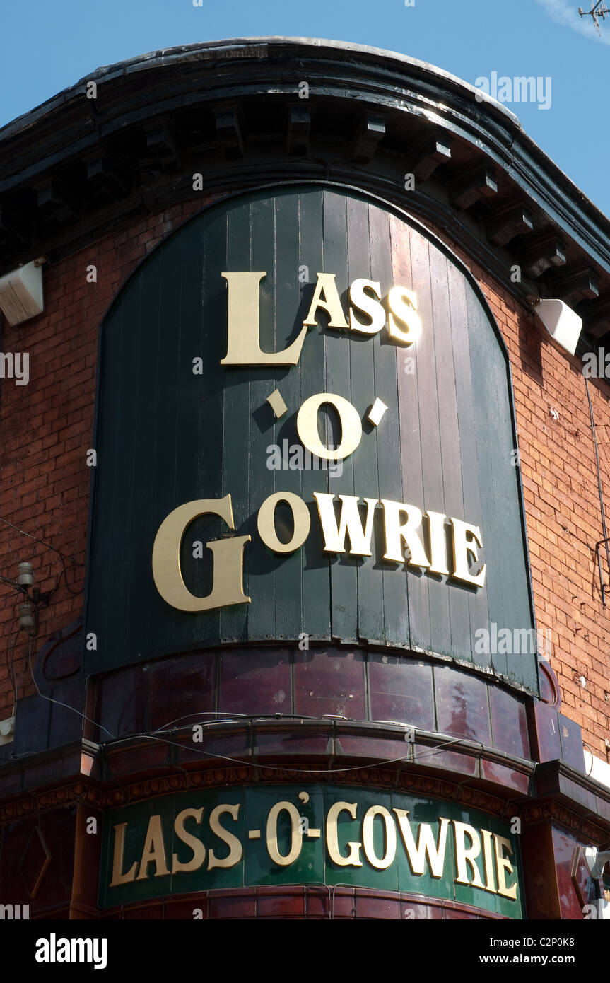 Lass 'o' Gowrie  iconic Manchester pub.Real ale,pub grub and live music - Stock Image