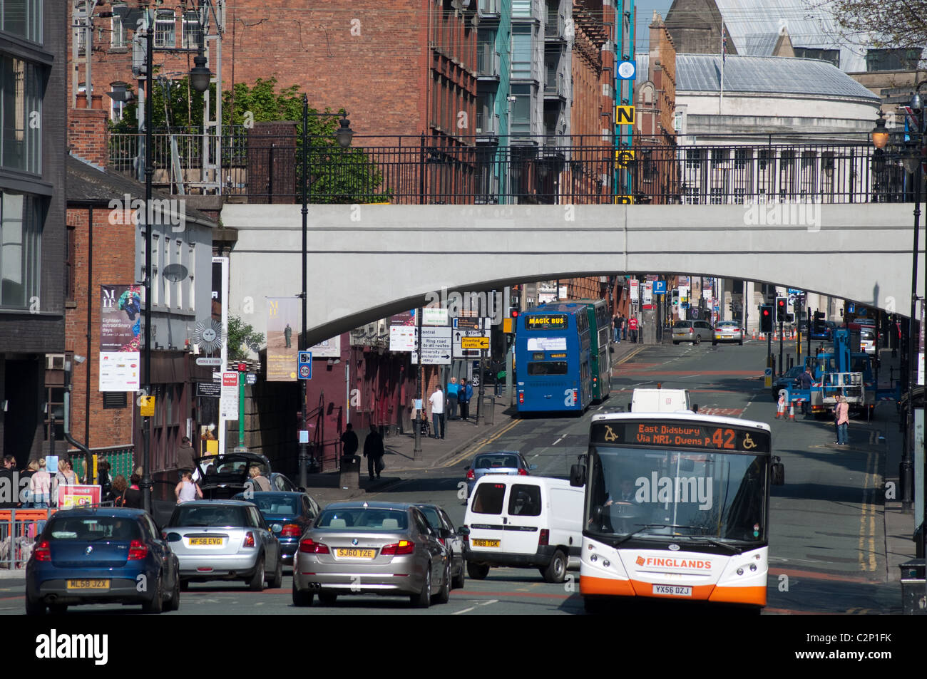 Oxford Road,Manchester,UK - Stock Image