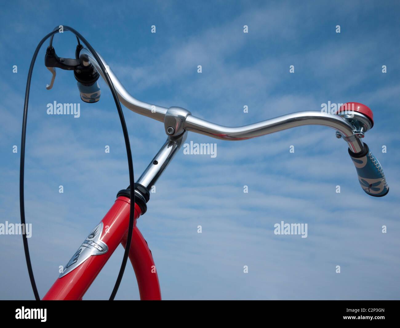 Retro Electra Bike Red - Stock Image