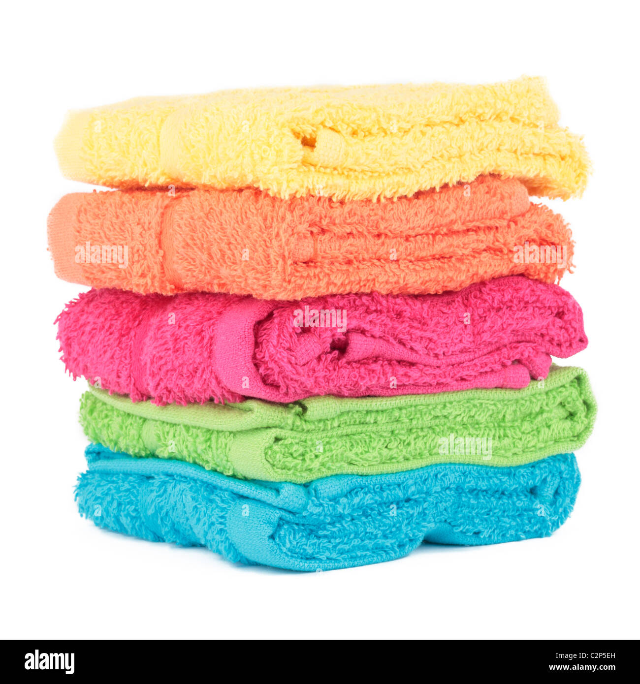 Towels Cut Out - Stock Image