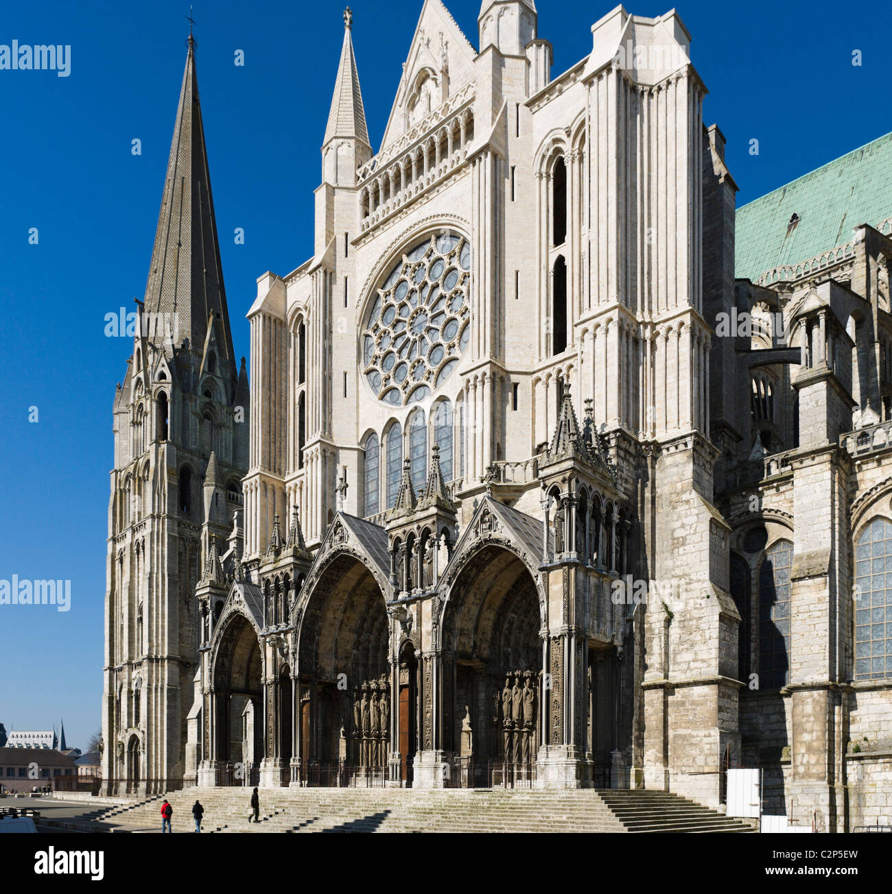 Eastern Facade Of The Cathedral Notre Dame Chartres France