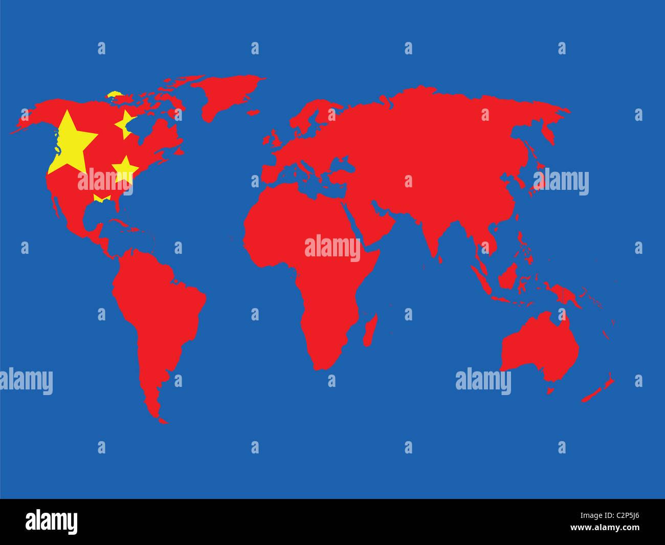 Economical world map - Stock Image