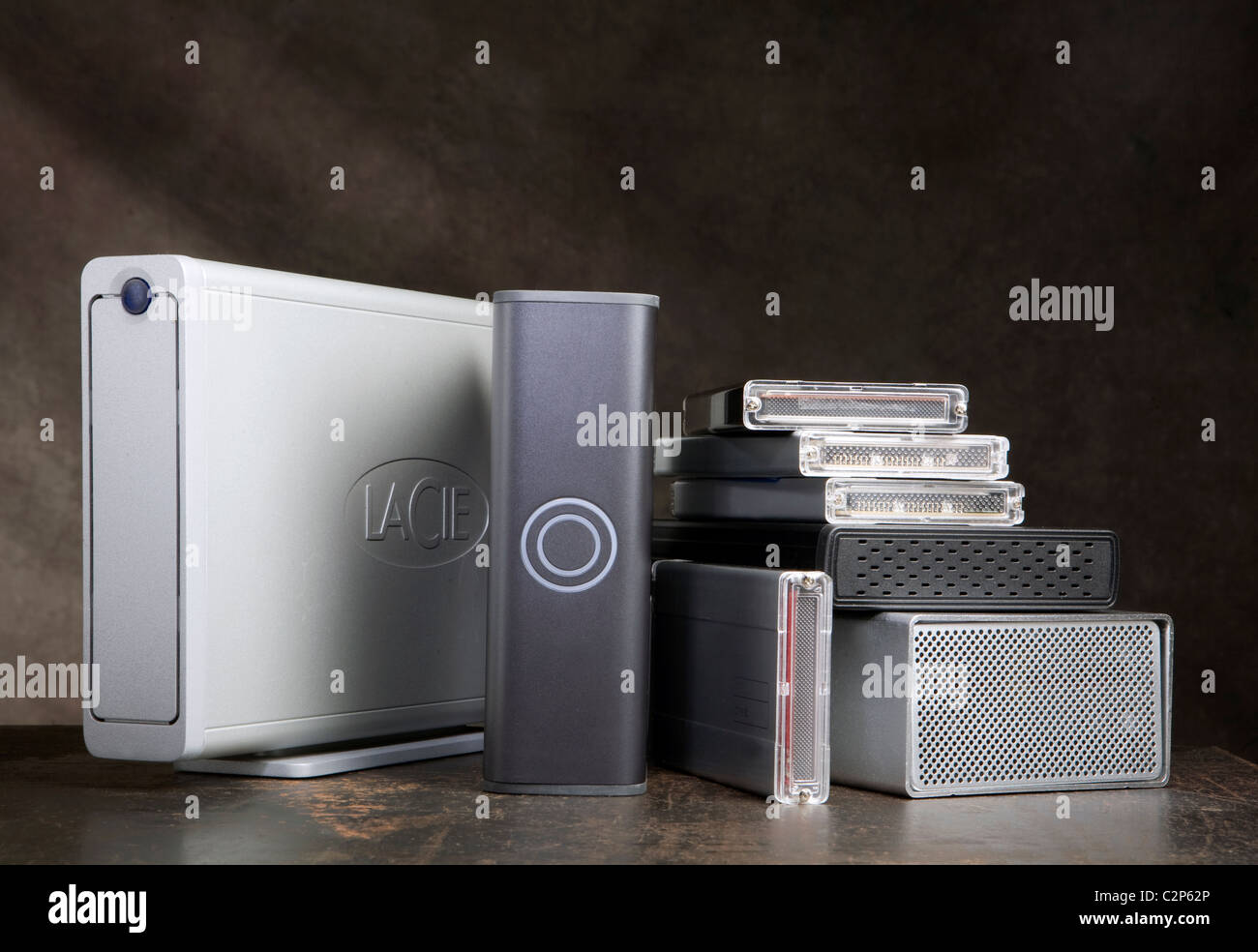 collection of hard drives - Stock Image