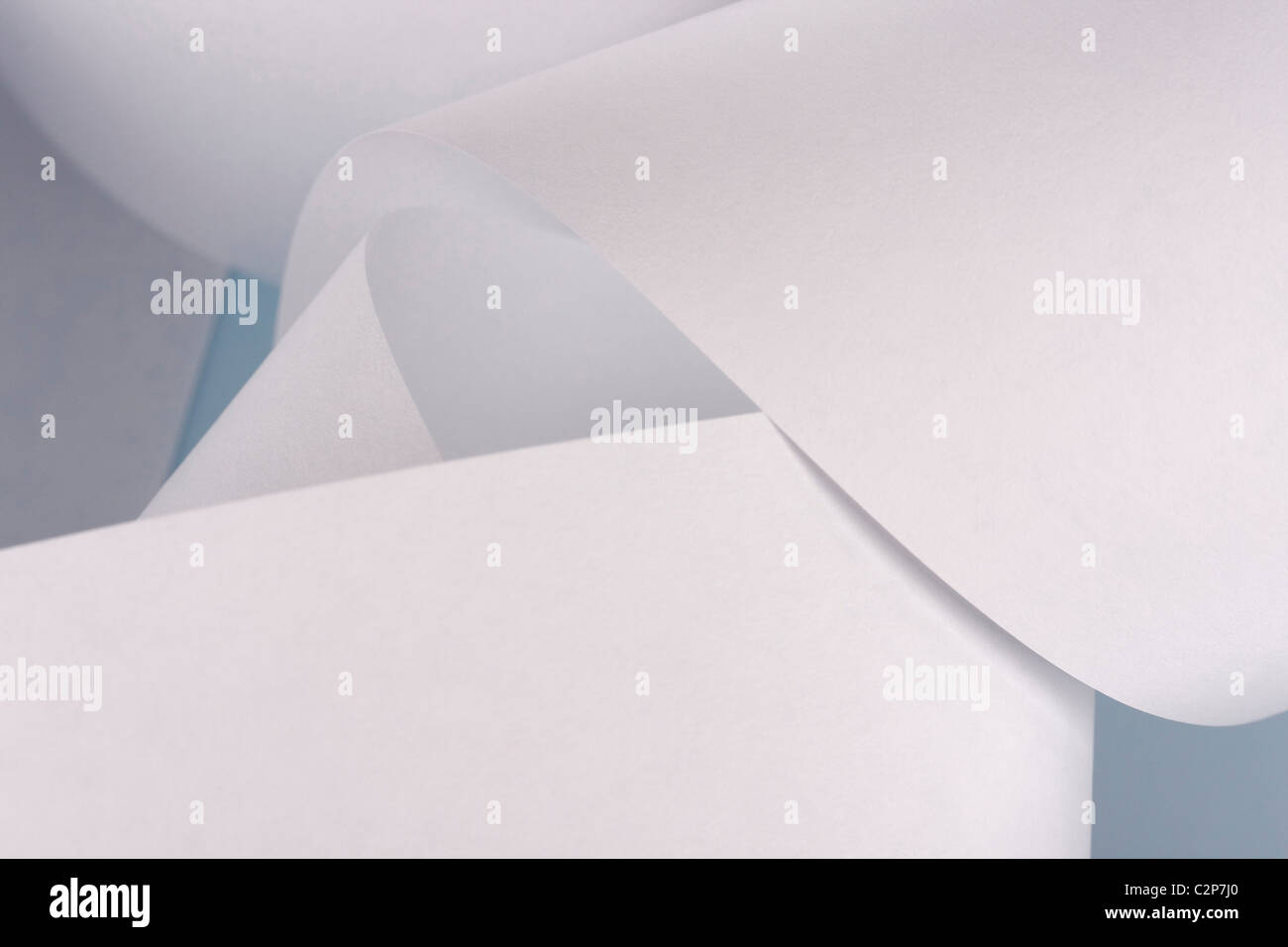 paper strip of paper roll for printers - Stock Image