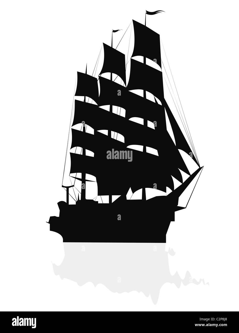Big sailing ship - Stock Image
