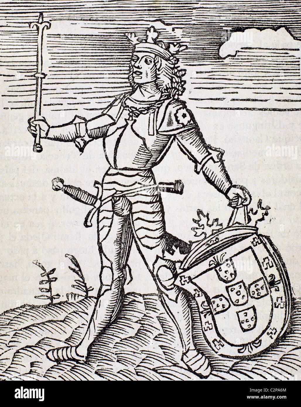 Vespucci, Amerigo (1454-1512). Italian navigator, explorer and cartographer. Engraving. - Stock Image