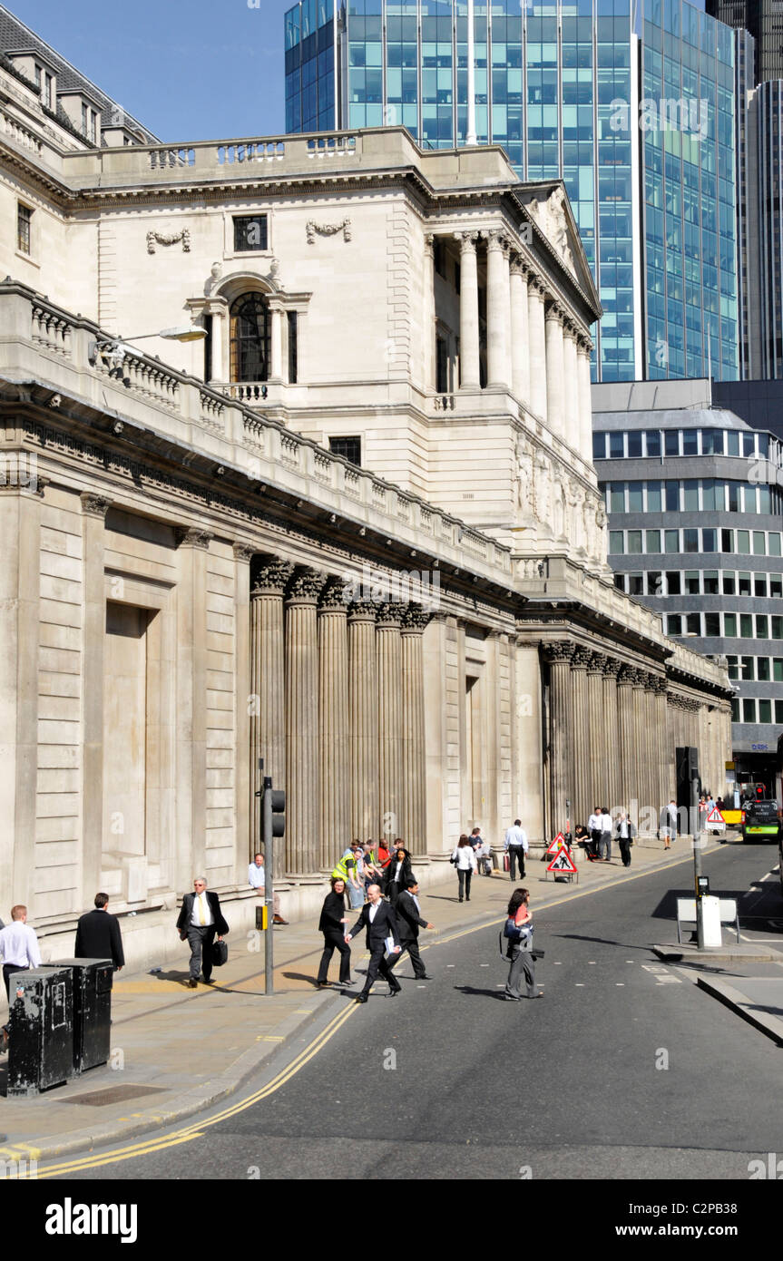City of London financial district Bank of England Building in Threadneedle Street City of London England UK - Stock Image