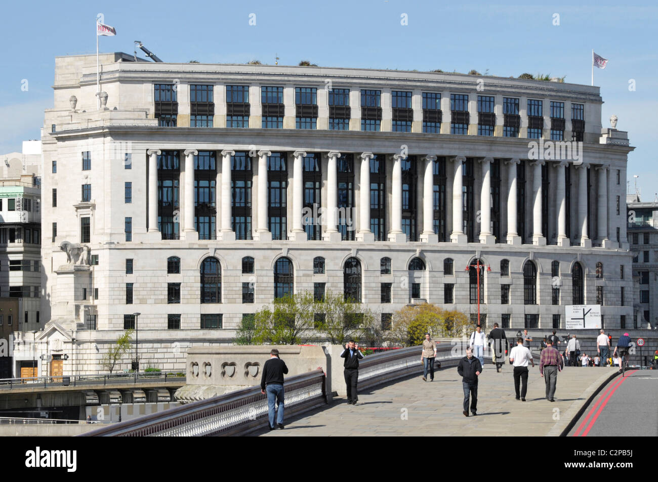 Unilever House headquarters building seen from Blackfriars Bridge City of London England UK - Stock Image