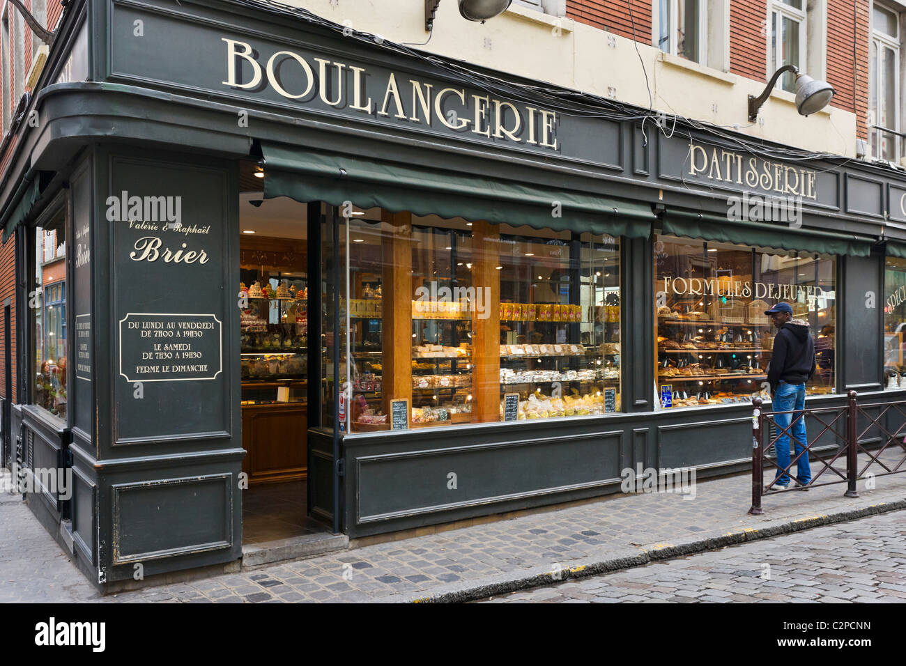 Traditional Boulangerie Patisserie On A Typical Street