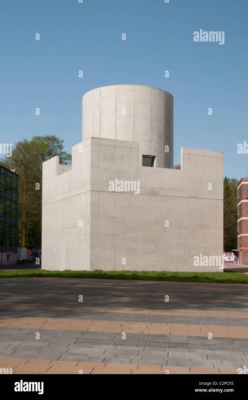 Centre for International Light/Illumination Art  - Facade Skyspace of James Turrell, Unna, North Rhine-Westphalia, - Stock Image