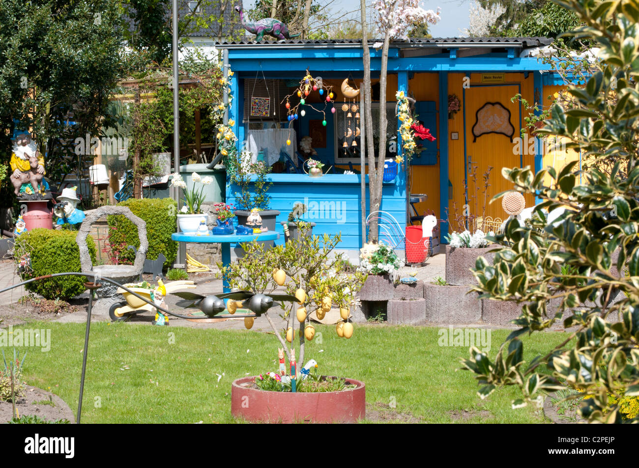 Allotment garden, Schrebergarten in Hamm, North Rhine-Westphalia, Germany - Stock Image