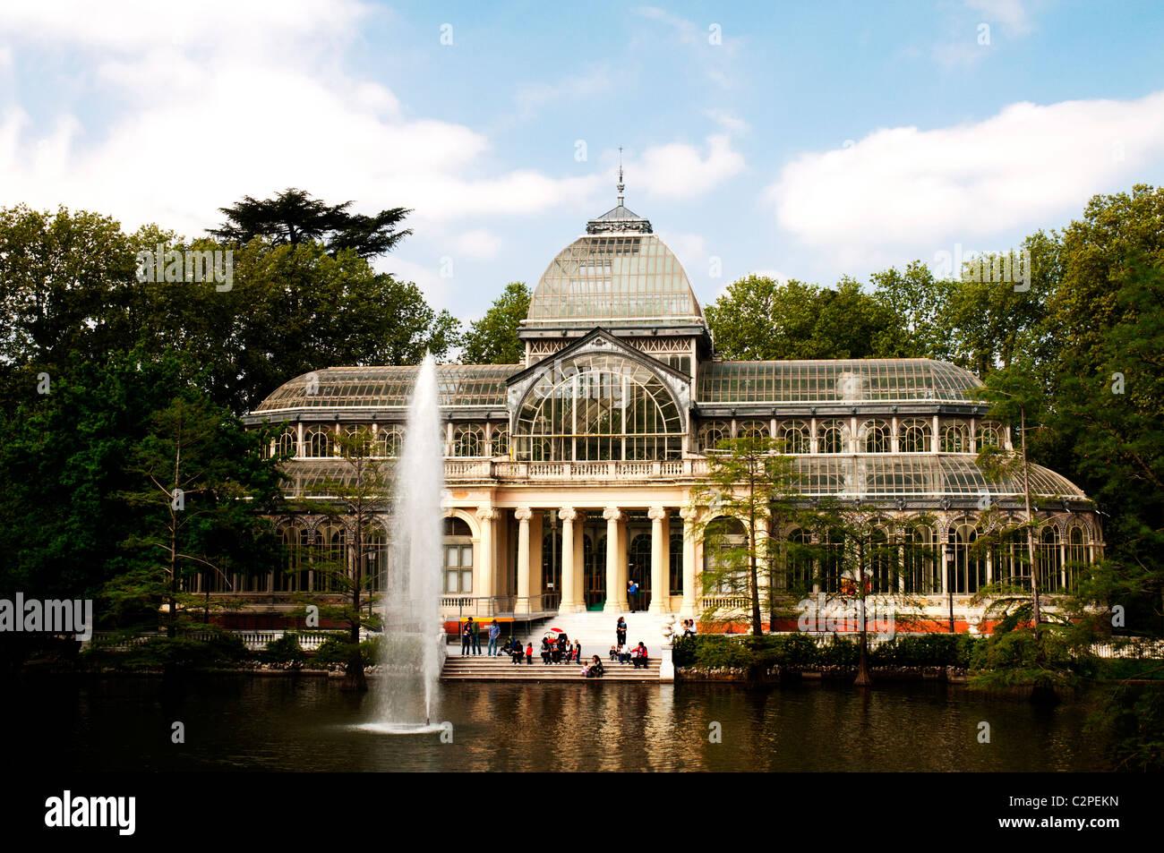 Palacio de Cristal, Madrid, Spain - Stock Image