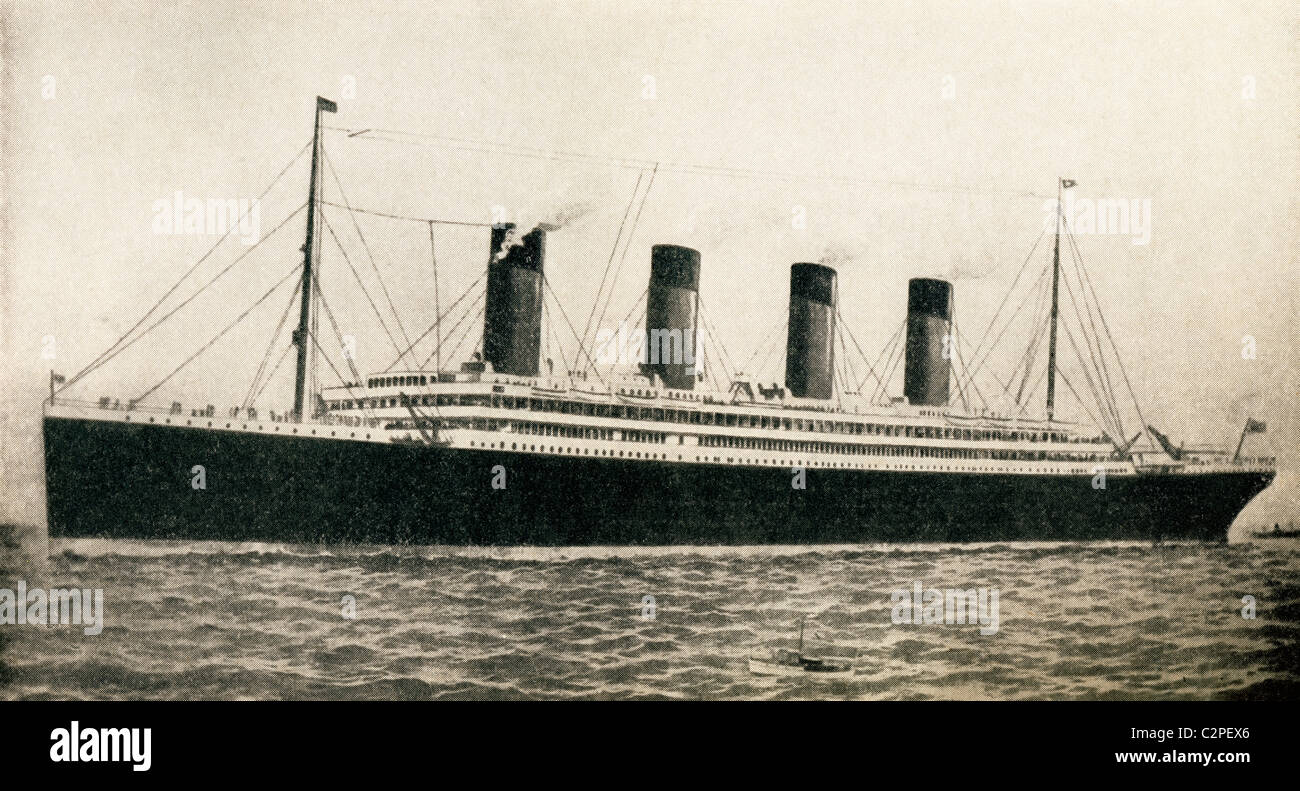 The 46,328 tons RMS Titanic of the White Star Line. - Stock Image