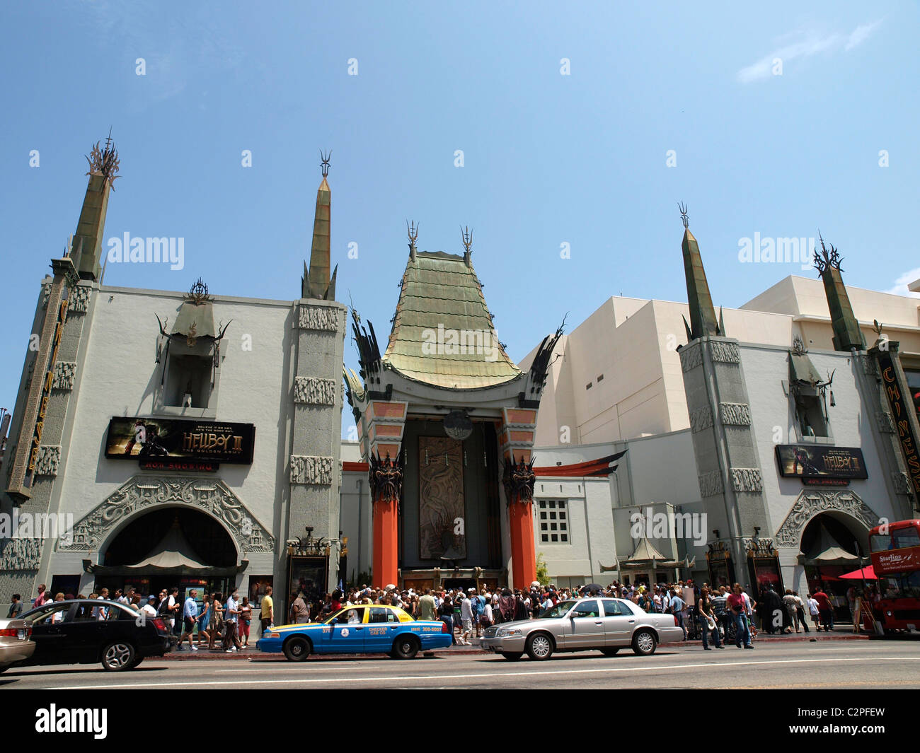 Grauman's Chinese Theatre  Hollywood Boulevard Los Angeles - Stock Image