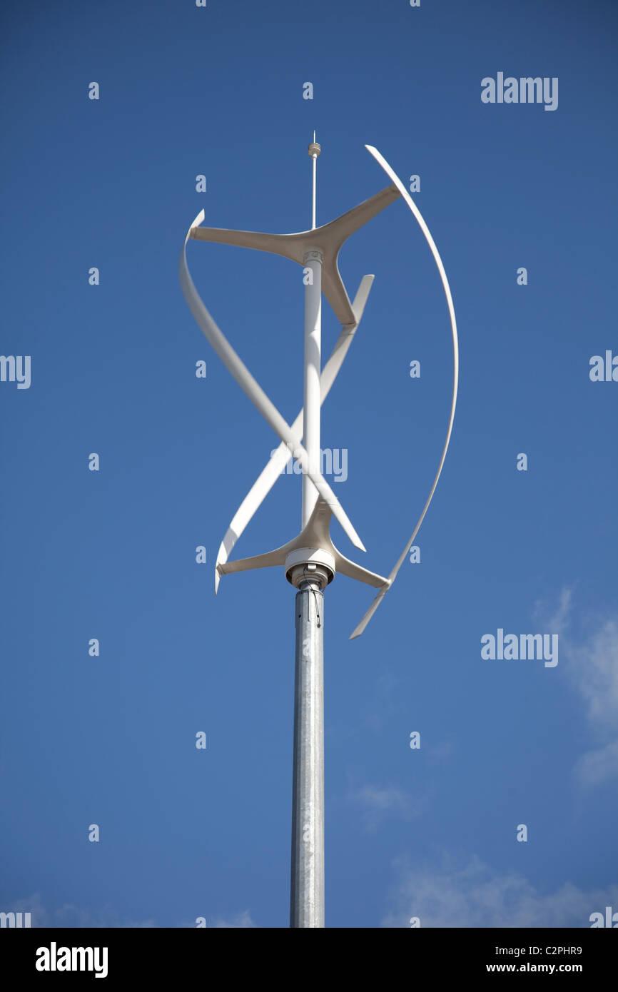 QR5 Quiet Revolution vertical axis wind turbine in shopping precinct
