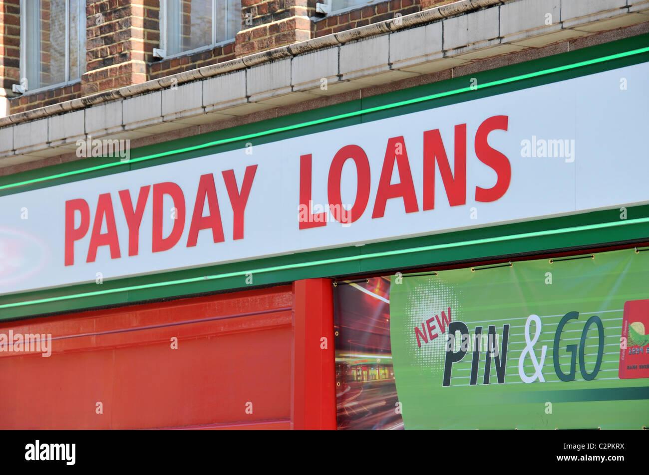 Payday Loans company Brixton speedy cash debt poor money management - Stock Image