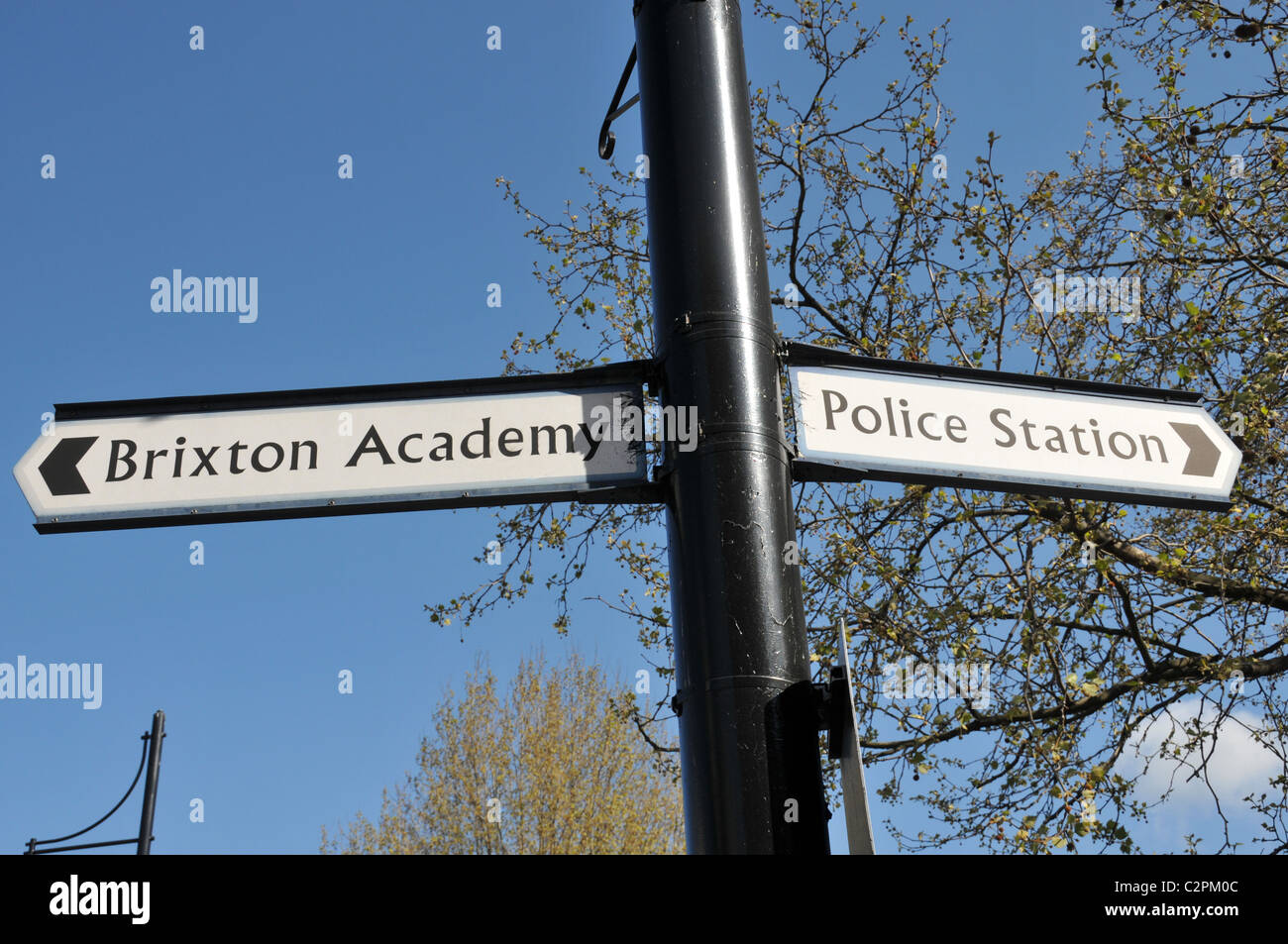 Brixton Academy sign Police Station Stock Photo
