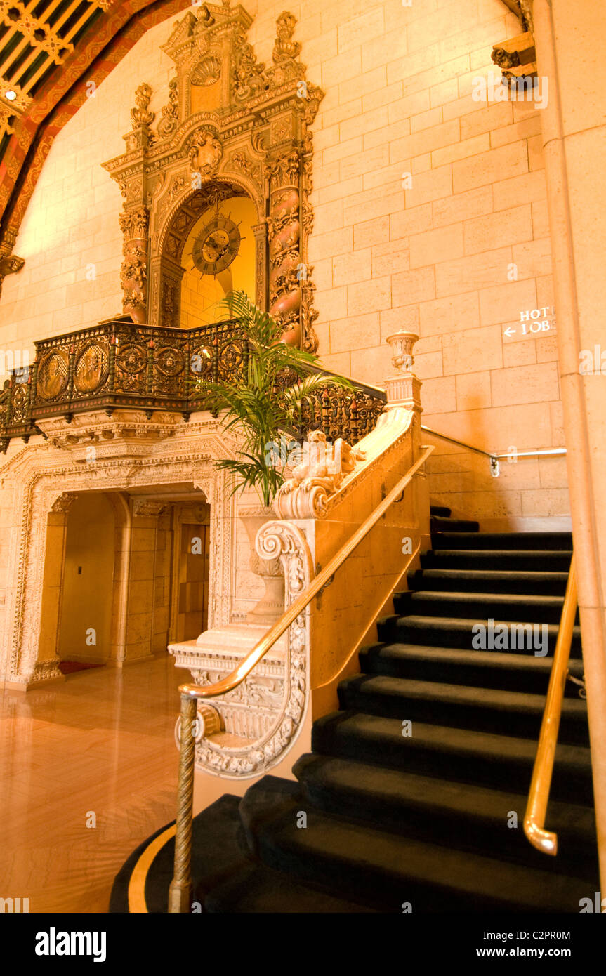 Biltmore Hotel classic historic hotel in downtown Los Angeles Southern California - Stock Image