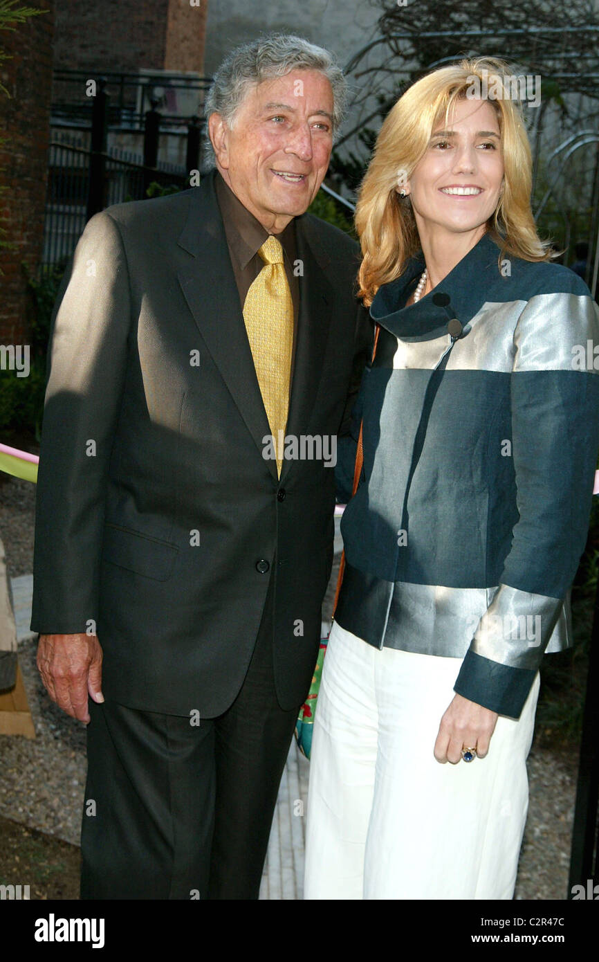 Tony Bennett and his wife Susan Crow New York Restoration Project's 7th annual 'Spring Picnic' at the - Stock Image