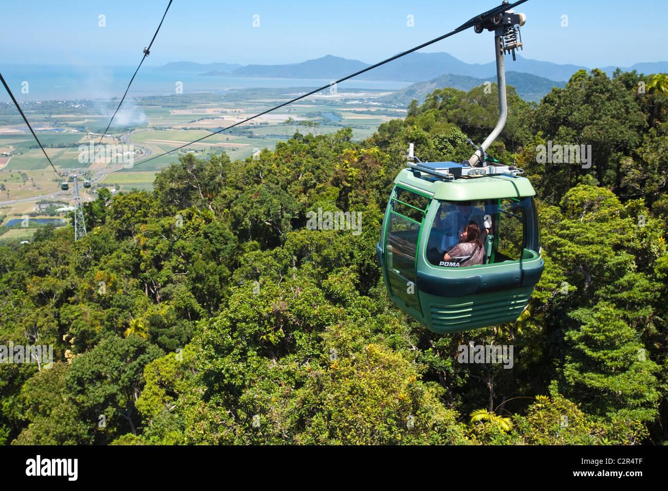 Skyrail Rainforest Cableway. Cairns, Queensland, Australia - Stock Image