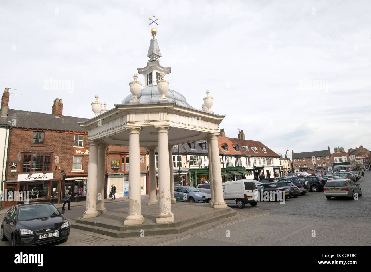 Beverley town center market square east Yorkshire town - Stock Image