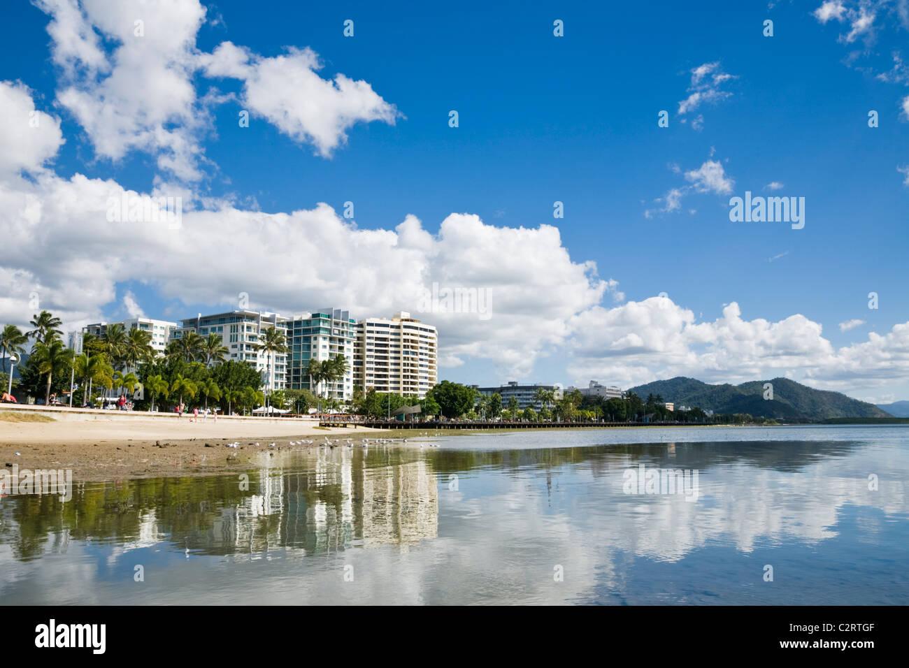 View along the Esplanade. Cairns, Queensland, Australia - Stock Image