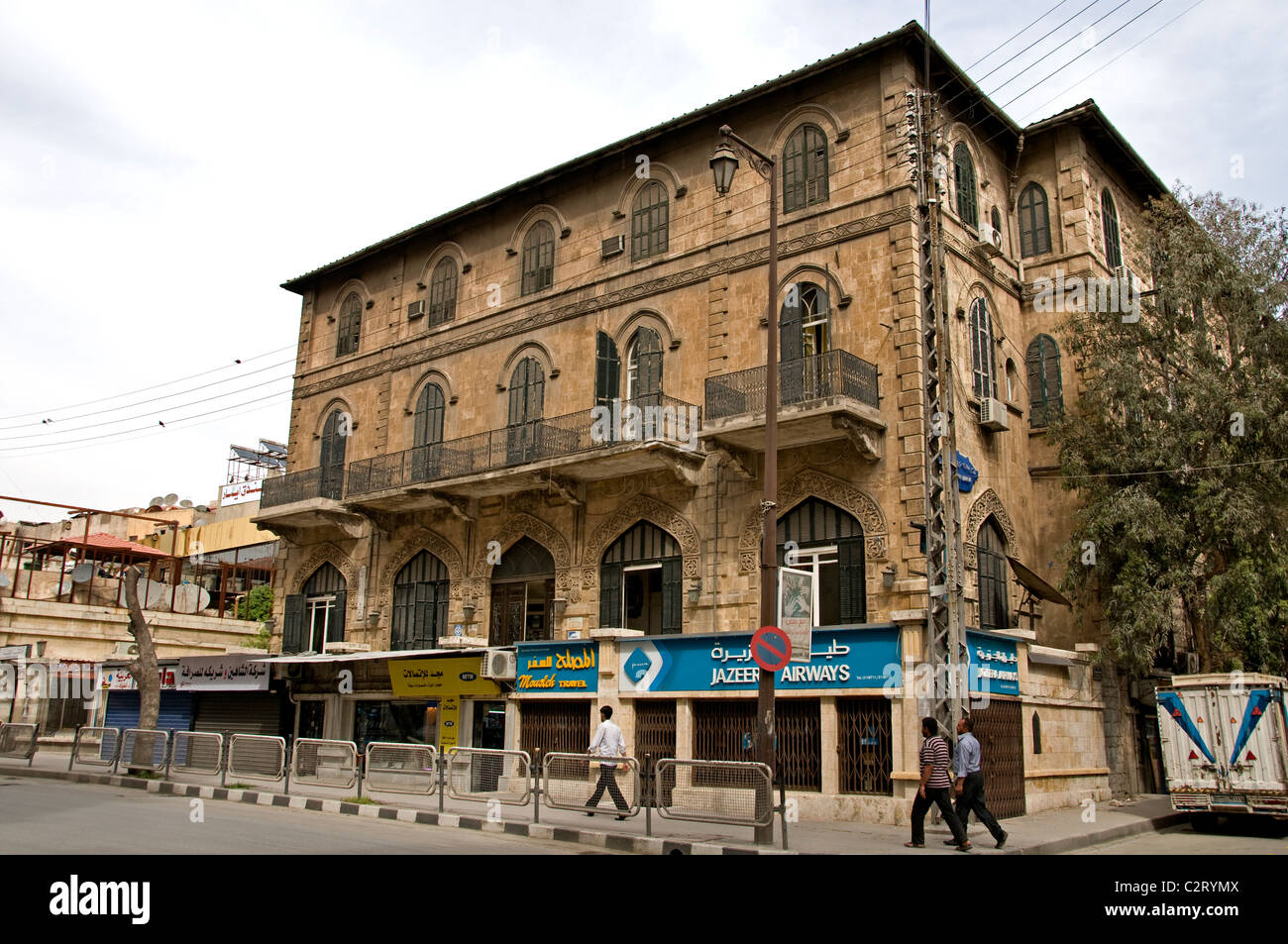 Baron Hotel Aleppo Town City Syria Syrian Middle East - Stock Image