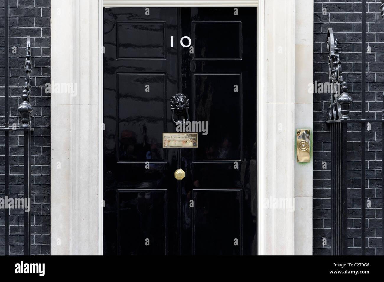 10 Downing Street, London. - Stock Image