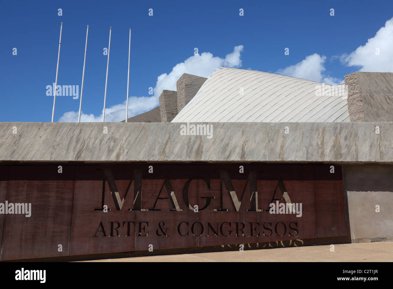 MAGMA - the futuristic Convention Center in Las Americas, Canary Island Tenerife, Spain. - Stock Image