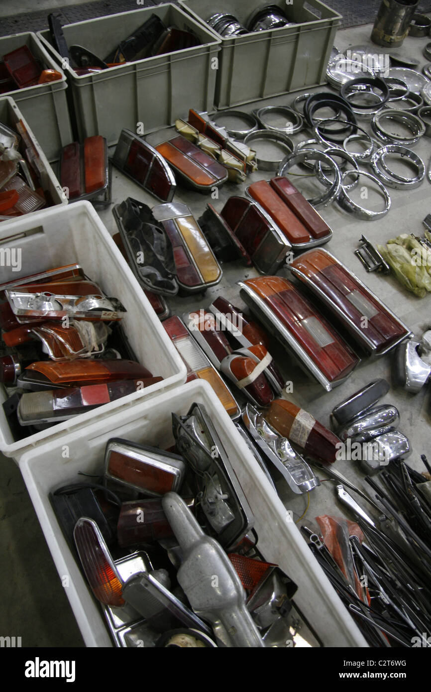 spare parts for sale at vintage car show event Stock Photo: 36182316 ...
