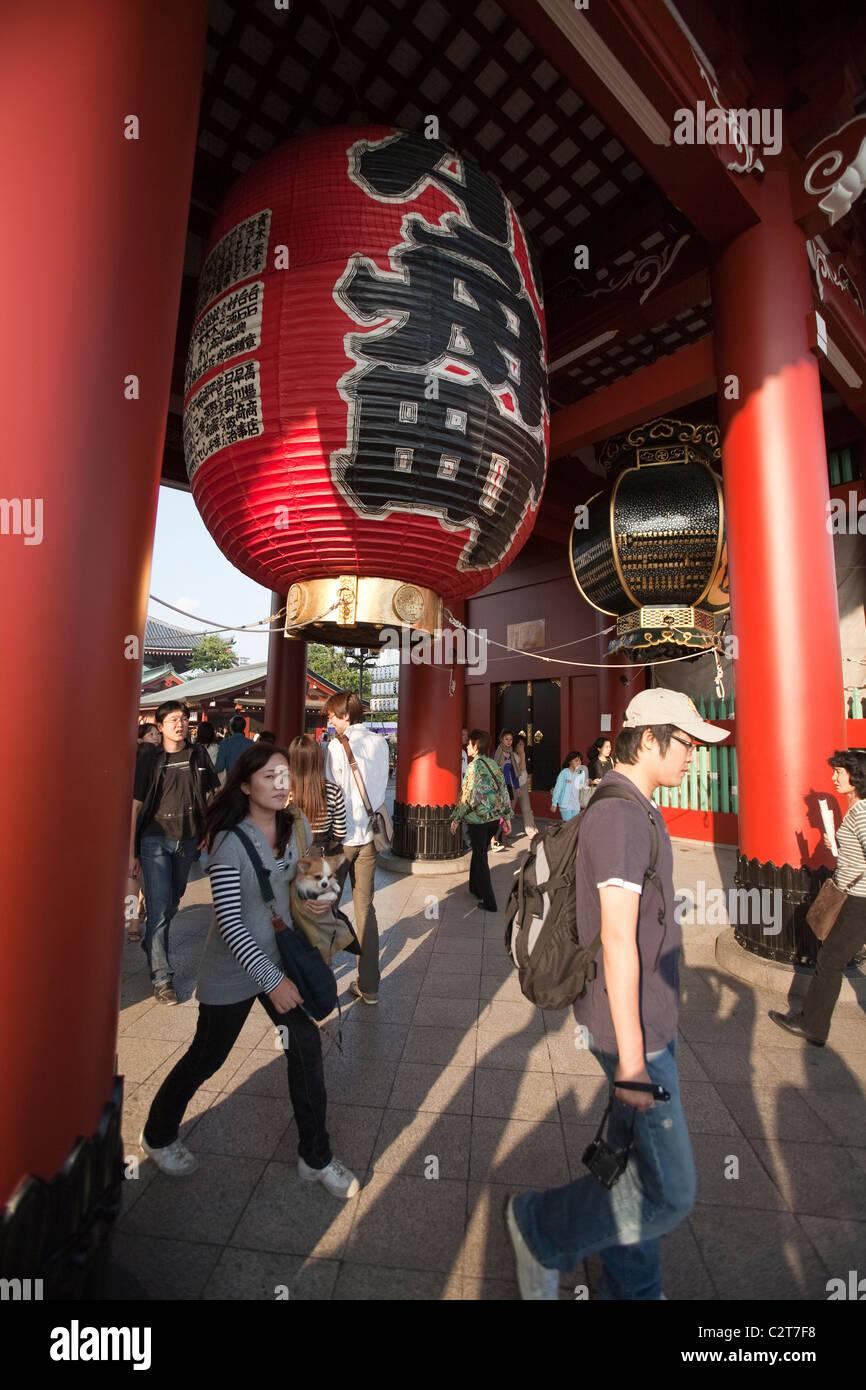 GETAWAY LANTER, ASAKUSA KANONJI TEMPLE MEIJI SHRINE, TOKYO, JAPAN - Stock Image