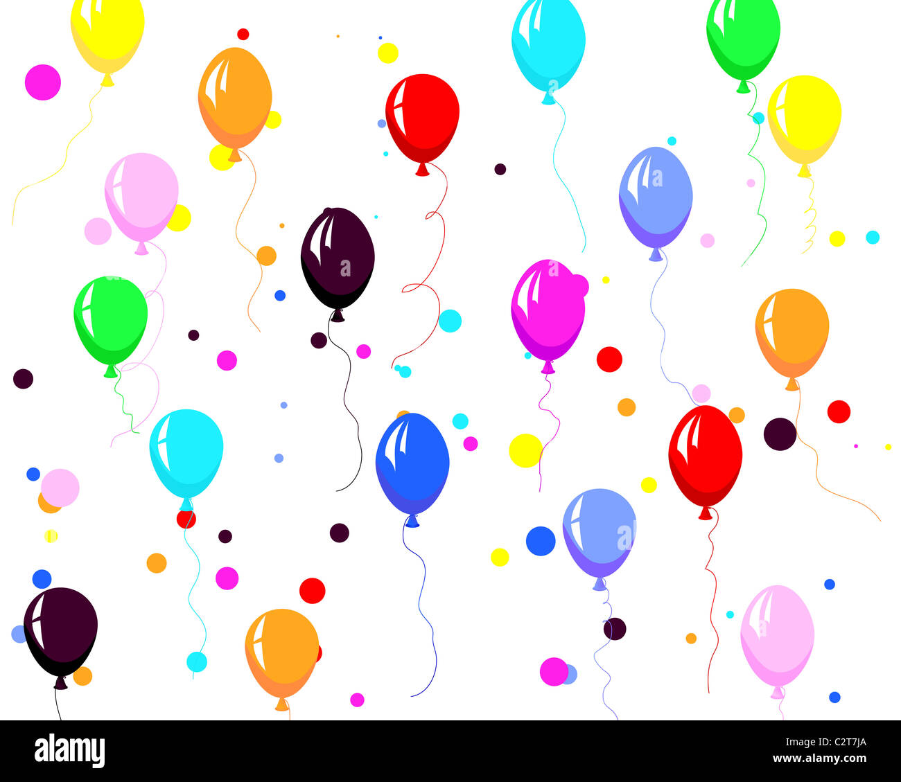colorfull balloons - Stock Image