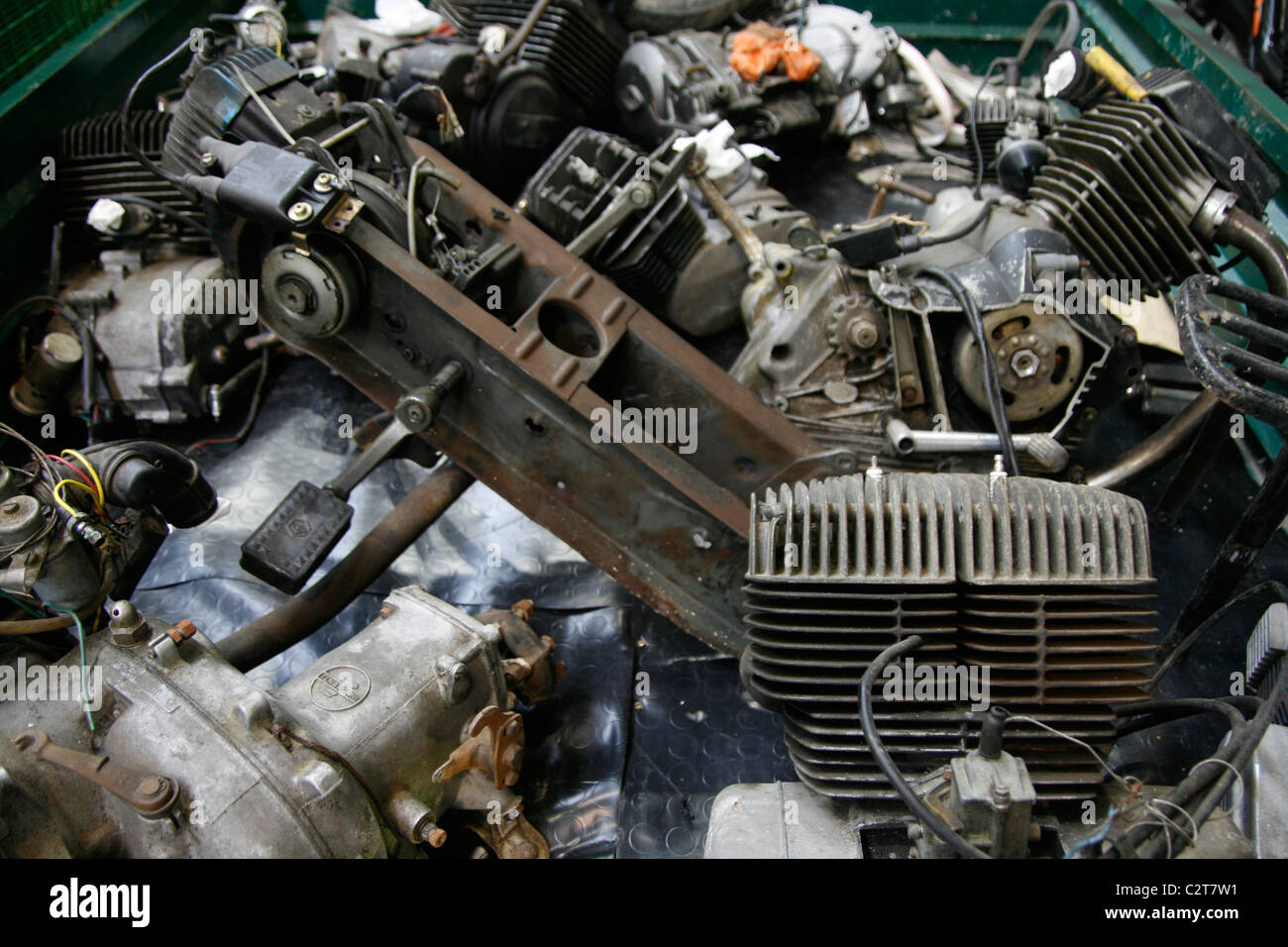 spare parts for sale at vintage car show event Stock Photo: 36183085 ...