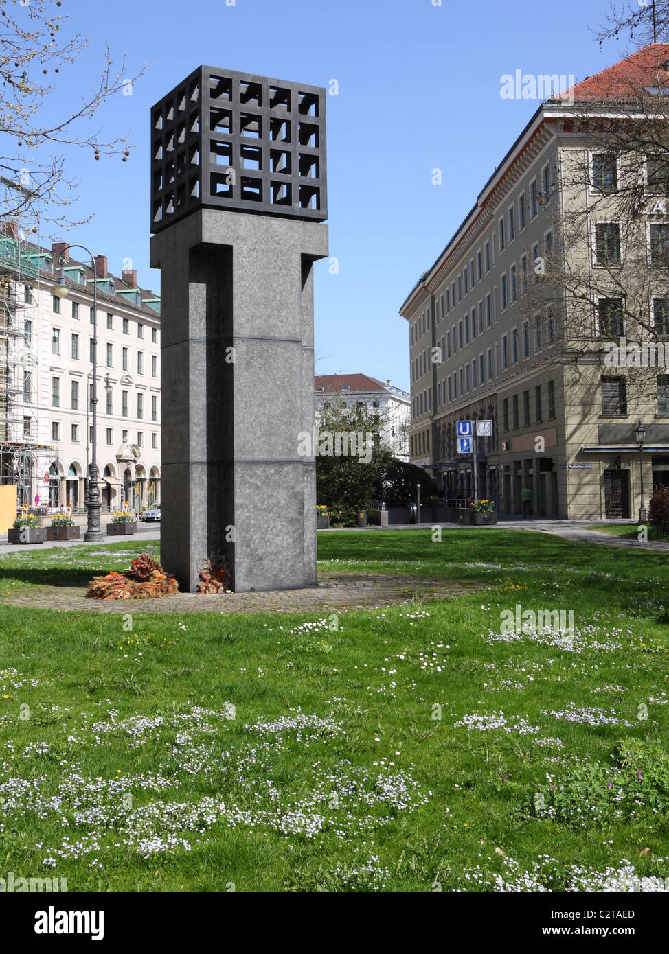 Platz der Opfer des Nationalsozialismus (memorial for the victims of the nazi-dictature) in Munich, Germany, Europe Stock Photo