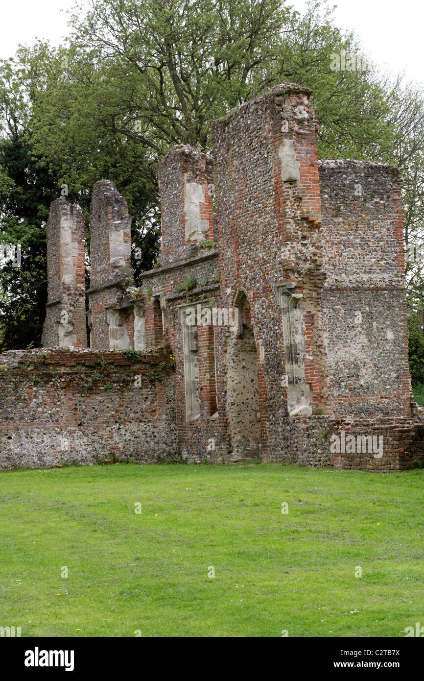 The Remains of Sopwell House on the Site of a Benedictine Nunnery, Cottonmill Lane, St Albans, Hertfordshire, UK. Stock Photo