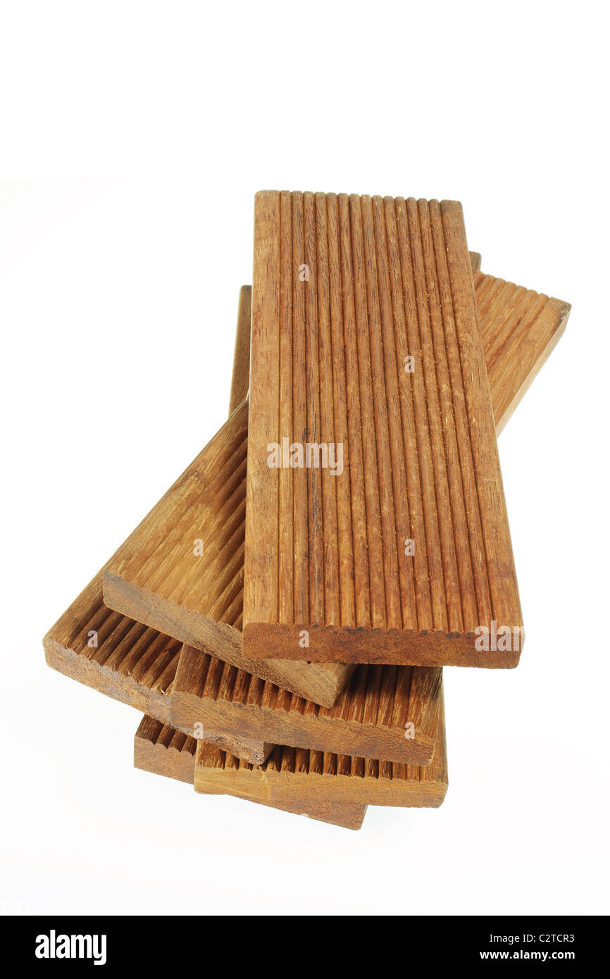 Pile of Wood Planks - Stock Image