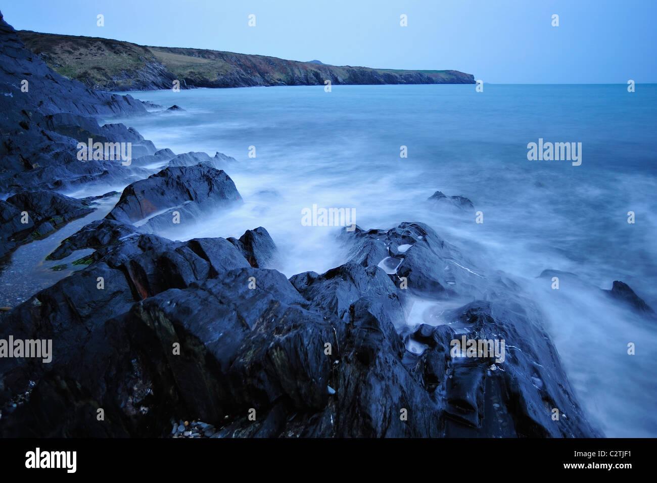 Porthgain on the Pembrokeshire coast - Stock Image