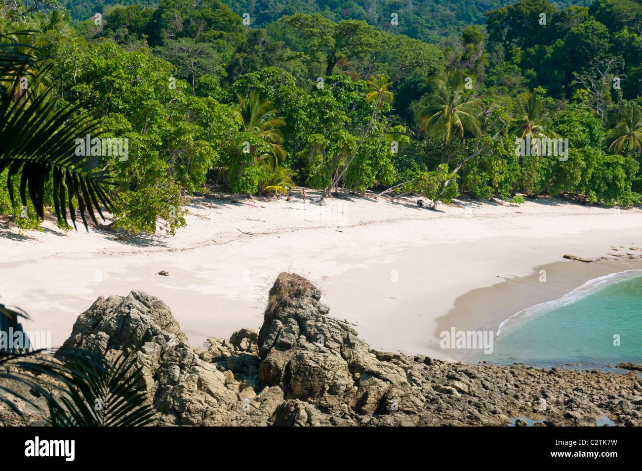 Pristine beach at Manuel Antonio National Park, Puntarenas Province, Costa Rica - Stock Image