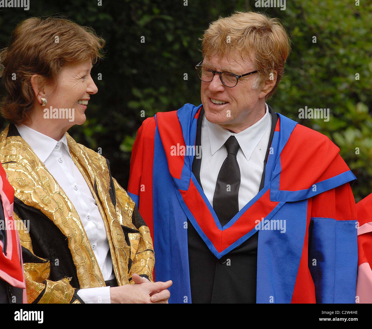 Robert Redford is awarded the Honorary Degree of 'Doctor of Letters' at Trinity College Dublin, Ireland - 11.07.08