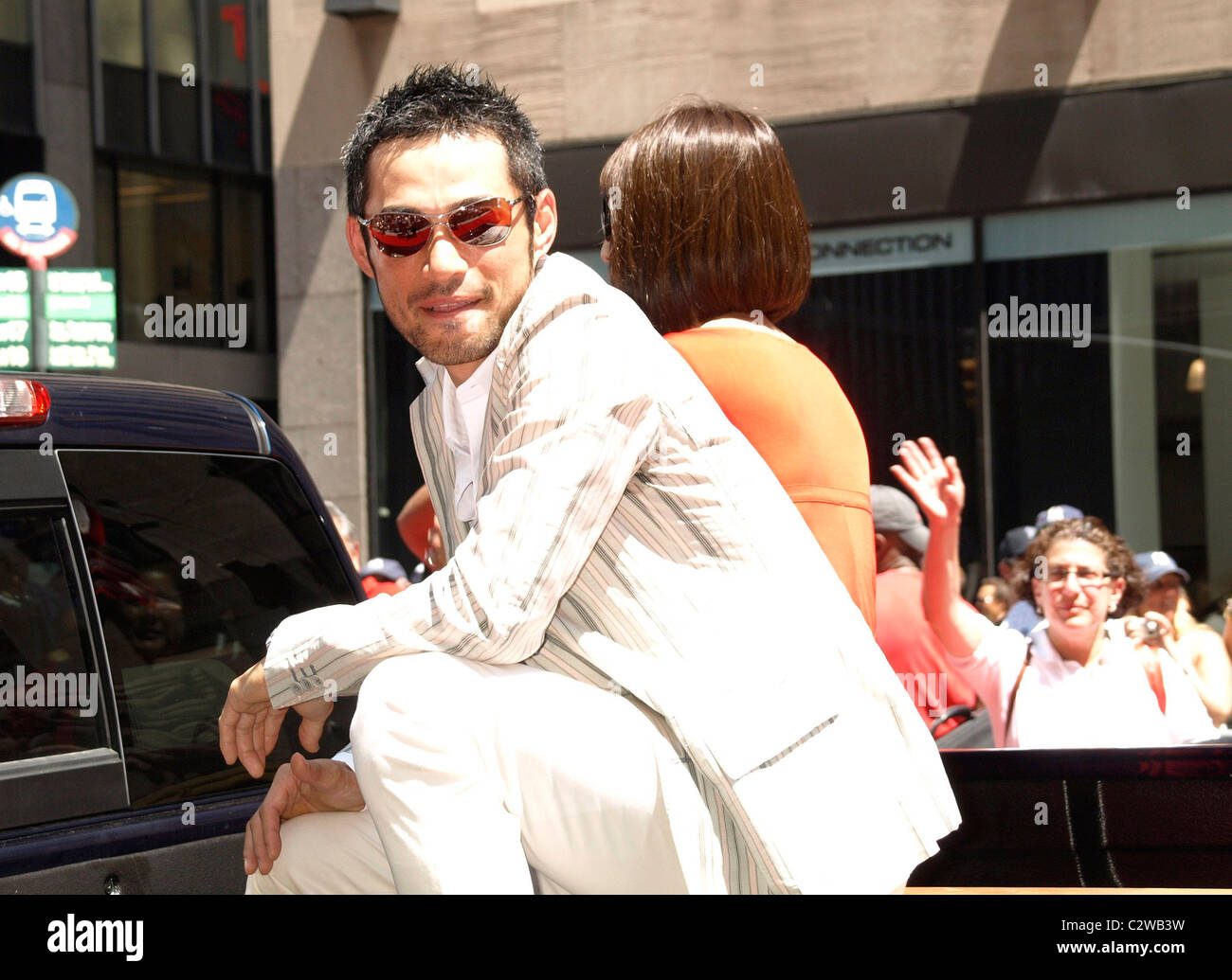 Ichiro Suzuki Stock Photos Images Alamy Young Red 2008 Mlb All Star Week Carpet Parade On 6th Avenue New