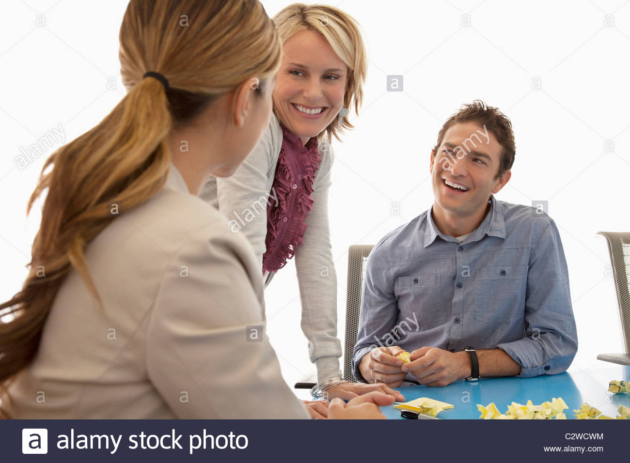 Business people working together in conference room - Stock Image
