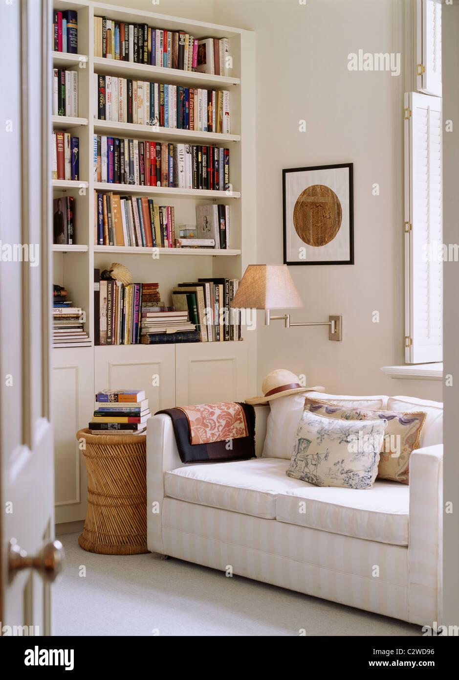 Library Reading Room Sofa Shelves Stock Photo Alamy