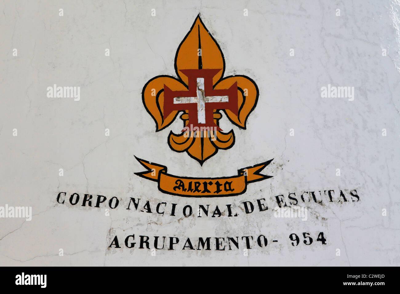A Fleur De Lis Symbol Marks The Headquarters Of A Scout Group In