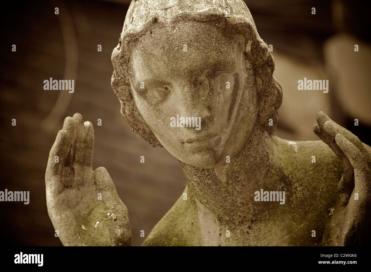 Statue at St James Church, Piccadilly, London. England. - Stock Image